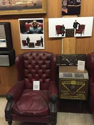 these are the actual chairs used in the matrix we took a tour of warner brothers a couple of years ago and we got to see all kinds of cool stuff