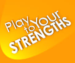 your strengths employers needs a match made in heaven a play to your strengths competitive advantage 3d words background
