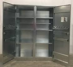 Metal Storage Cabinet With Doors SS 10084 02 Metal Storage Cabinet