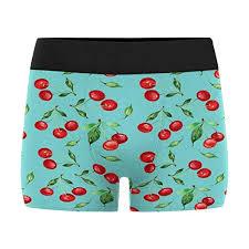 Mens Boxer Brief Size Chart Interestprint Mens Boxer Briefs Underwear Cherry Xs 3xl At