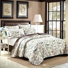 beige bedding sets birds embroidery cotton quilting quilts beige fl quilt luxury bedding sets patchwork quilts beige bedding sets