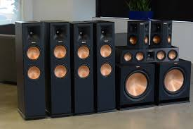 klipsch surround sound speakers. we piled 480 pounds of klipsch speakers in 1 room to prove why bigger is better klipsch surround sound speakers