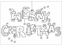 Printable Merry Christmas Coloring Pages Sheets For Kids 2018