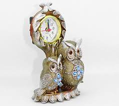 owl shaped showpiece clock for diwali home decoration decorative