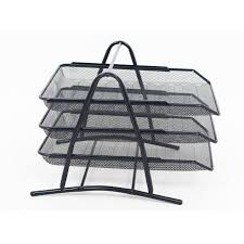 desk paper tray.  Desk Mesh 3 Tier Document Filing Letter Paper Trays Desk Tidy Metal  Organiser Risers And Tray N