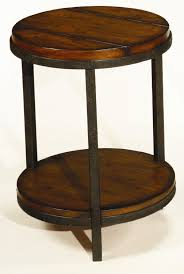 rustic round end table. Round End Table With Shelf Rustic S