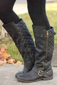 Best 25+ Rider boots ideas on Pinterest | Brown riding boots, Tall ... & Black Quilted Buckle Rider Boots Adamdwight.com