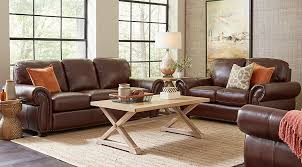 brown leather sofa living room ideas.  Room Balencia Dark Brown Leather 3 Pc Living Room  Rooms Brown With Sofa Ideas V