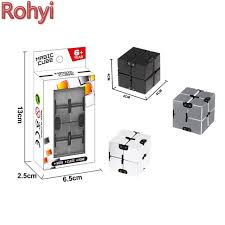 infinity cube. rohyi newest hot sale infinity cube mini fidget toy finger edc anxiety stress relief adult children n