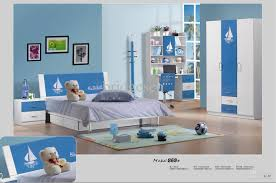 Bedroom: Modern Blue And White Kids Boys Bedroom Set With Queen ...