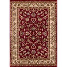 barclay sarouk red 5 ft x 7 ft traditional fl area rug