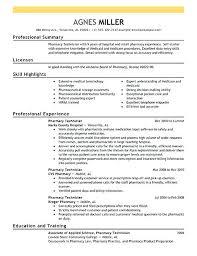 Example Of Cover Letter For Pharmacy Technician Pharmacist Resume