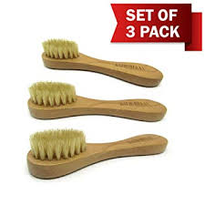 natural bristles face cleansing brush deep pore scrub face cleanser exfoliating set