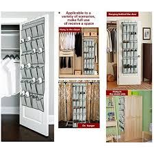 hanging door closet organizer. Over The Door Shoe Organizers -24 Pockets And Hanging Closet Organizer Storage Rack 4 Customized N