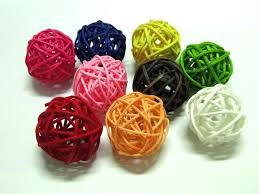 Decorative Bowl With Balls Mesmerizing Decorative Balls For Bowls Green Rattan Ball For 62