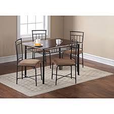metal dining room furniture. mainstays 5piece wood and metal dining set espresso room furniture