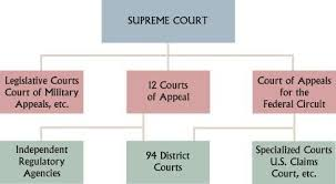 A Flow Chart Of The Organization Of Our Federal Court System