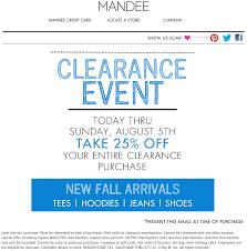 mandee coupon