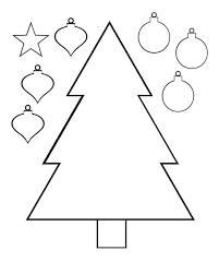 christmas tree color and cut printable activity page