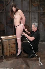 Jack off in bondage