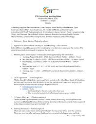 CTE Consortium Meeting Notes: May 6, 2020