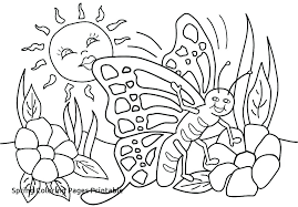 Preschool Spring Coloring Pages Springtime For Preschoolers And