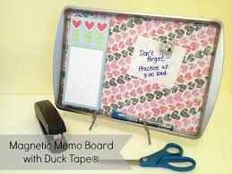 How To Make A Magnetic Memo Board Cool Magnetic Memo Board With Duck Tape Duck Tape Board And Tutorials