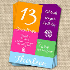 13th birthday party invitations templates free birthday invitations