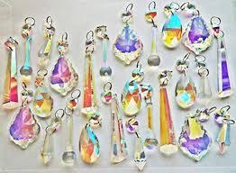 25 aurora borealis chandelier drops ab transpa chandelier drops parts cut glass crystals droplets beads