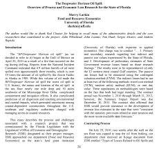 environmental economics sherry larkin describes the bp oil spill larkin aere newsletter