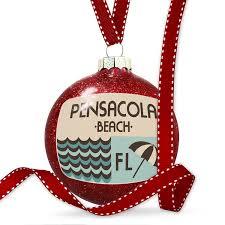 Light Up Pensacola Beach Sign Ornament Amazon Com Neonblond Christmas Decoration Us Beaches