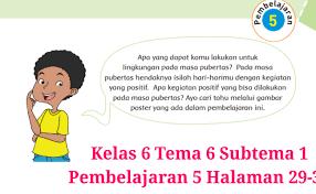 Subtema 1 kerja keras berbuah kesuksesan (unduh) subtema 2. Kunci Jawaban Buku Tematik Tema 6 Kelas 6 Halaman 29 33 Cute766