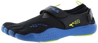 Fila Skele Toes Ez Slide Drainage Black Limepunch Blue Mens Water