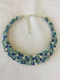 tropical blue opal swarovski crystal statement necklace the crystal rose bridal jewelry and accessories