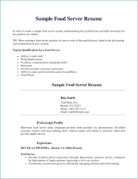 Server Experience Resume Examples 76 Server Resume Samples Jscribes Com