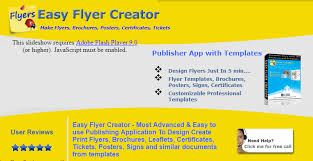 Easy Flyer Creator Publishing Application To Design Print