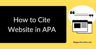 cite a in apa 7th edition