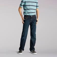 Premium Select Straight Fit Boys Jeans Husky Lee
