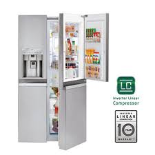 lg refrigerators side by side. large capacity side-by-side refrigerator w/door lg refrigerators side by c