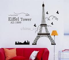 eiffel tower wall art removable eiffel tower wall stickers decals wall art living room wall decor