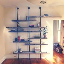 reclaimed wood shelving unit customized for each by pipe on wheels