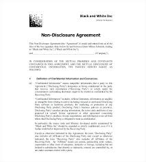 Non Disclosure Agreement Template Word Images - Template Design Ideas