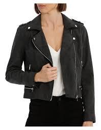 world short faux leather jacket image 1
