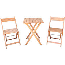house home outdoor timber 3 piece bistro set