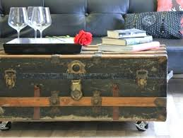best steamer trunks images on trunk coffee tables with storage table diy