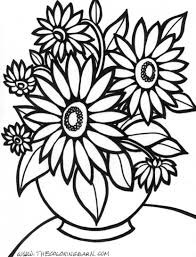 Coloring Pages For Kids To Print Flowers Printable Coloring Page