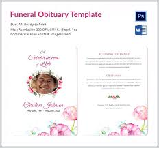 Funeral Service Templates Word Adorable Free Printable Funeral Program Templates Download Edit Print Ready