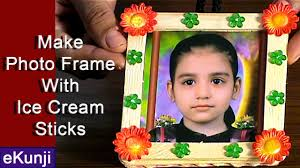 craft ideas for kids make photo frame from ice cream sticks easy craft ideas for kids 7 you