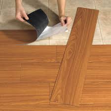 Kitchen Floor Vinyl Tiles They Make Peel And Stick Wood Planks Now Very Cool An Easy Diy