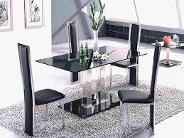 furniture modern glass dining table lovely enjoyable black glass rectangle two base modern dining table